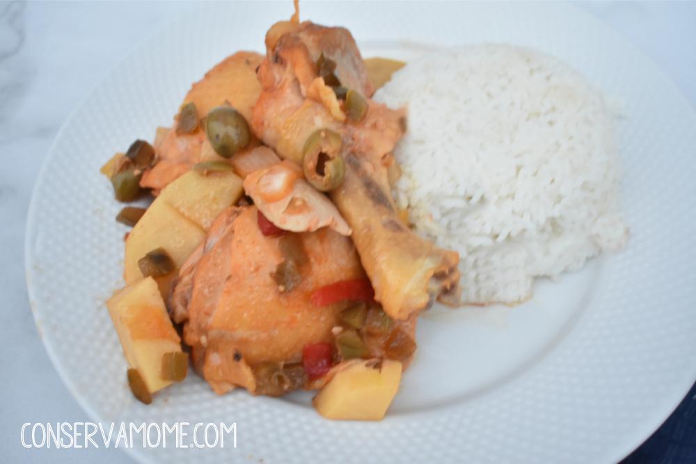 crockpot Cuban Chicken Fricassee (Fricase de Pollo)