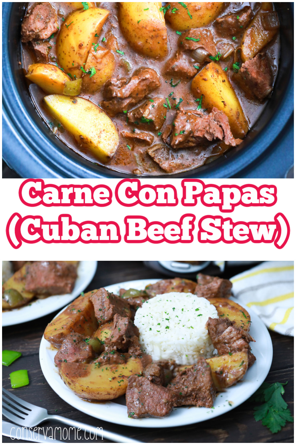 Carne Con Papas - Traditional Cuban Beef Stew