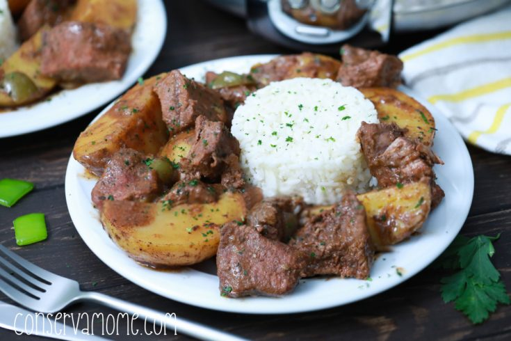 carne con papas - Cuban beef stew