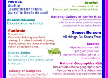 Great Educational Websites for kids : A fun list of learning sites for kids