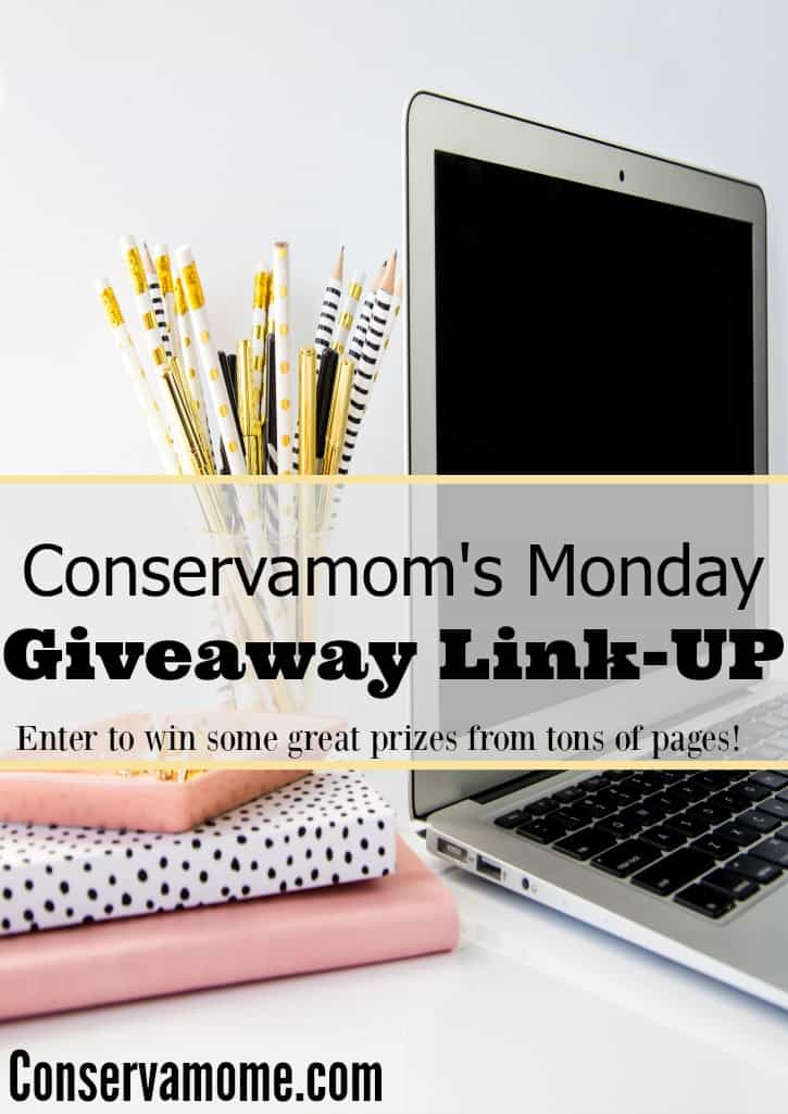 Monday Giveaway Linkup - Enter to win Prizes!