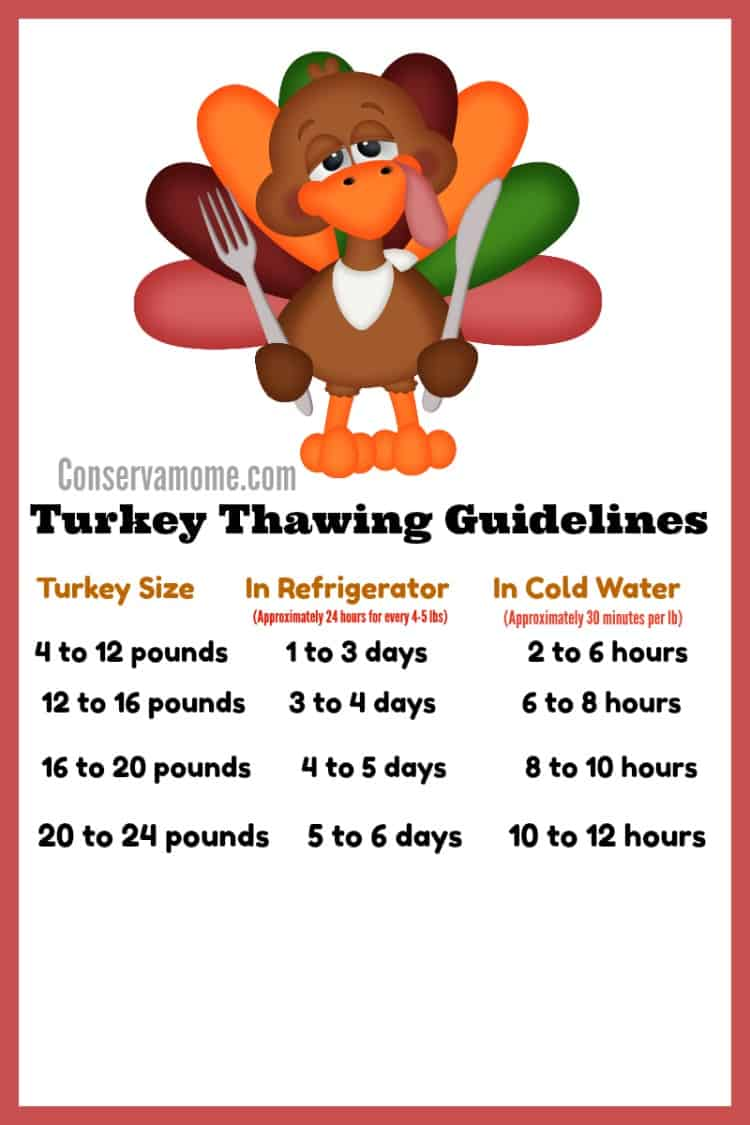 Knowing when to thaw and how long to cook your turkey is essential, so I've made it easy with these Turkey Thawing & Cooking Guidelines  for the Perfect Thanksgiving Turkey.
