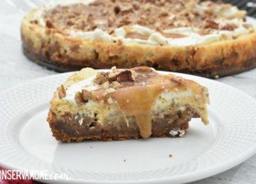 Caramel Pecan Apple Pie Cheesecake