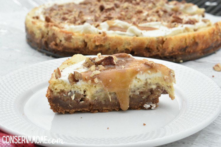 Caramel Pecan Apple Pie Cheesecake