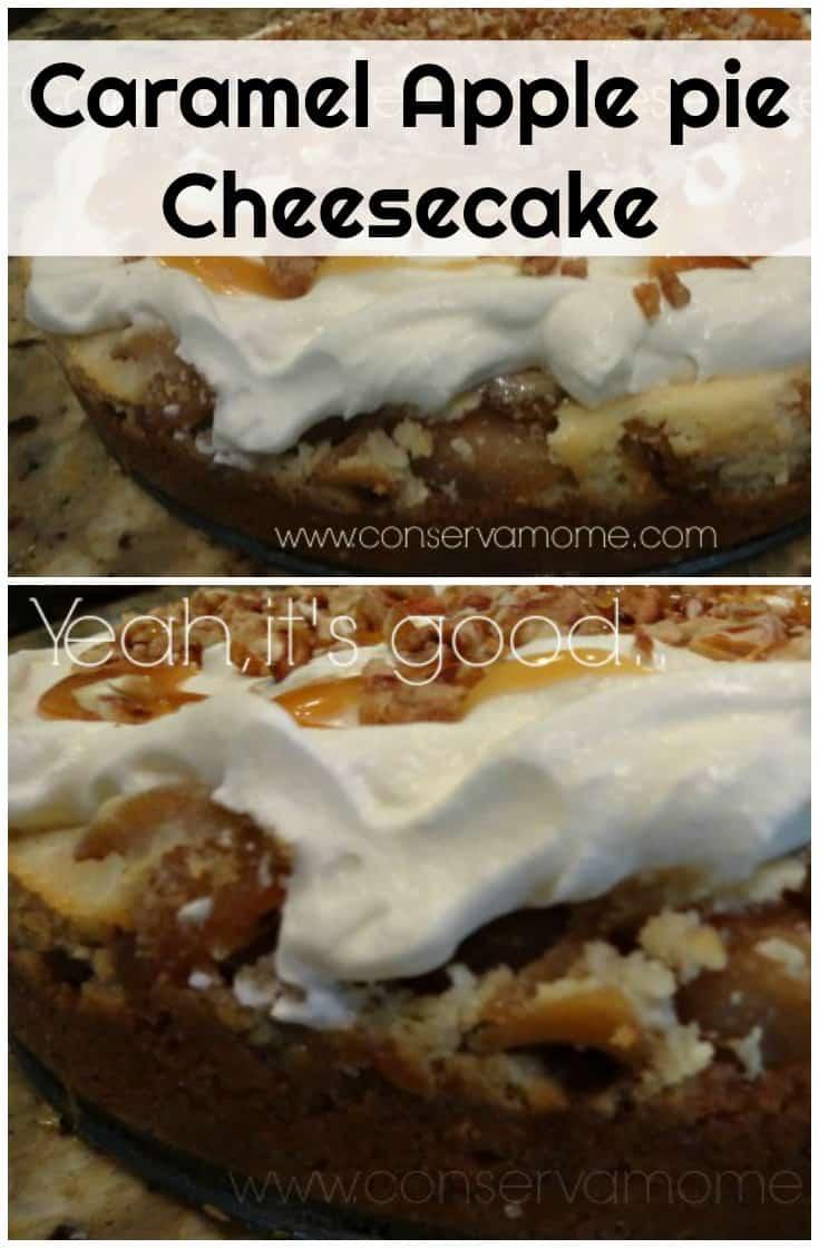 Caramel Apple Pie Cheesecake