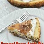 Caramel apple pie pecan cheesecake
