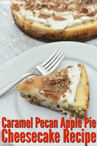 Caramel apple pie pecan cheesecake