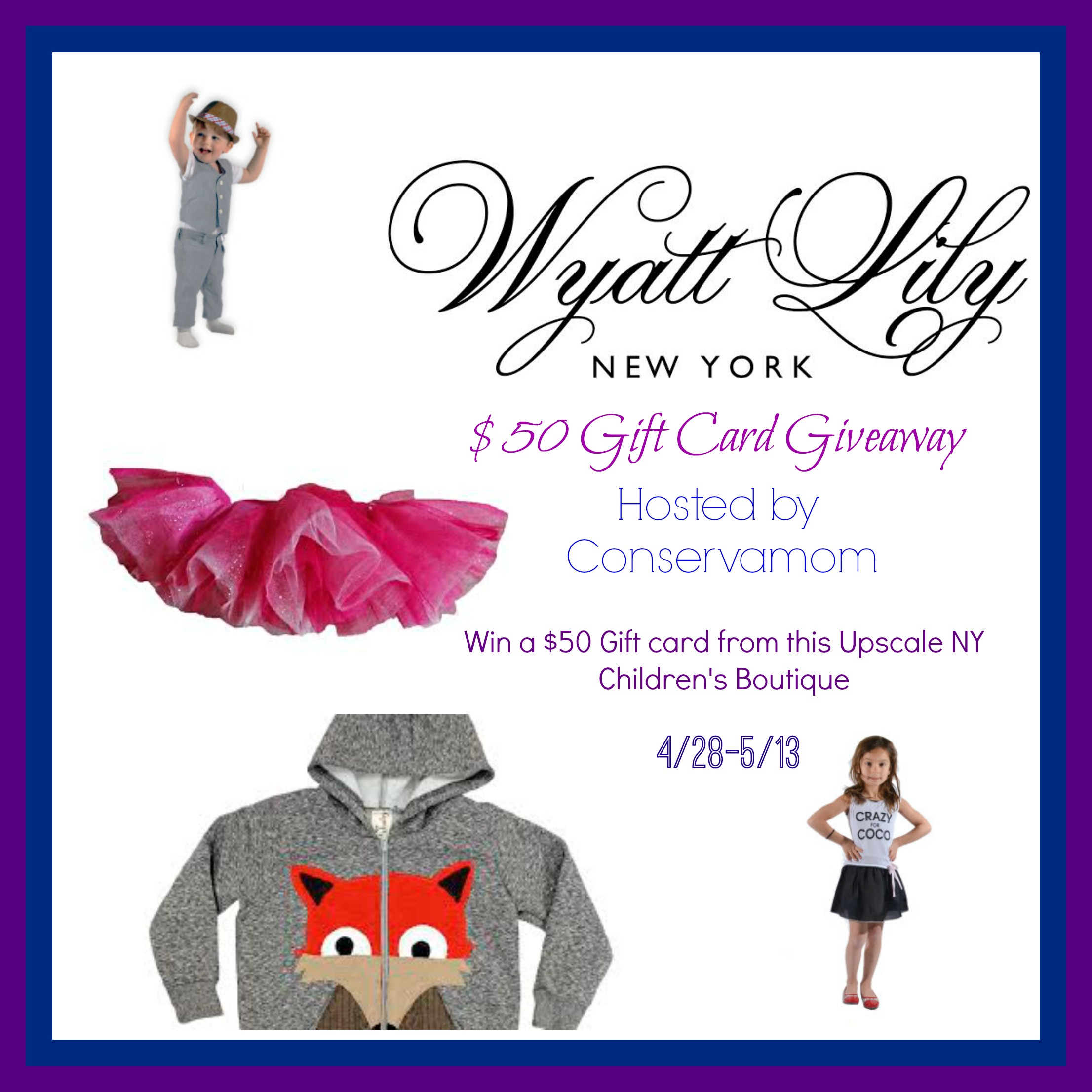 Wyatt lily new york baby children 39 s boutique giveaway for Same day custom t shirts nyc