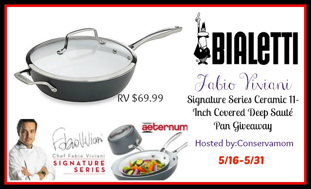 Ceramic 11 Inch Covered Deep Saute Pan Giveaway My