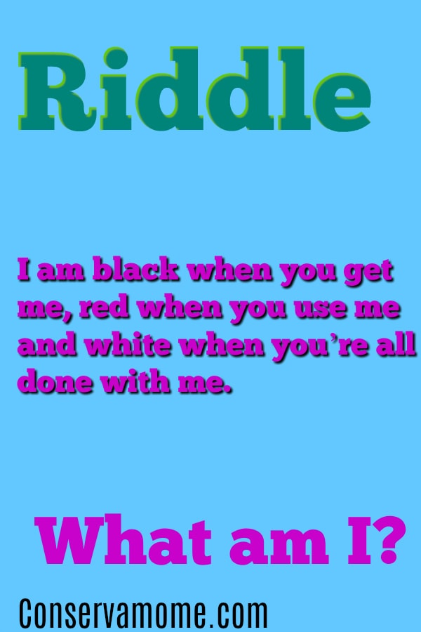 I am black when you get me red when you use me and white
