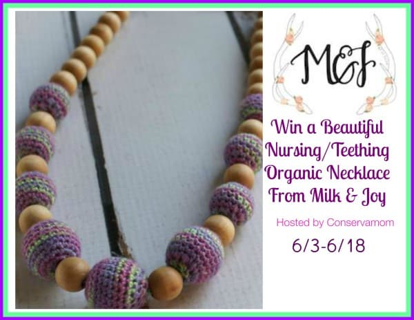 Milk & Joy Nursing Organic Teething Necklace Giveaway ends