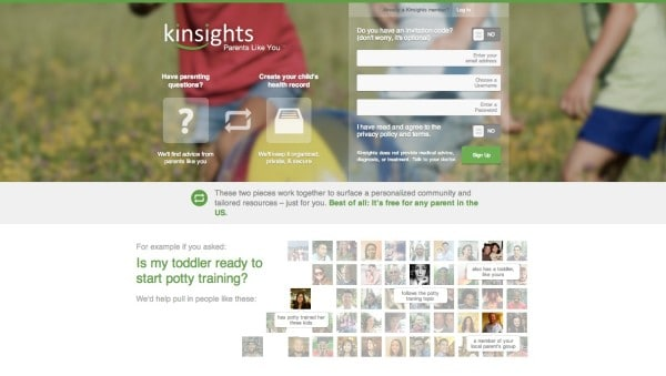 Kinsights Homepage