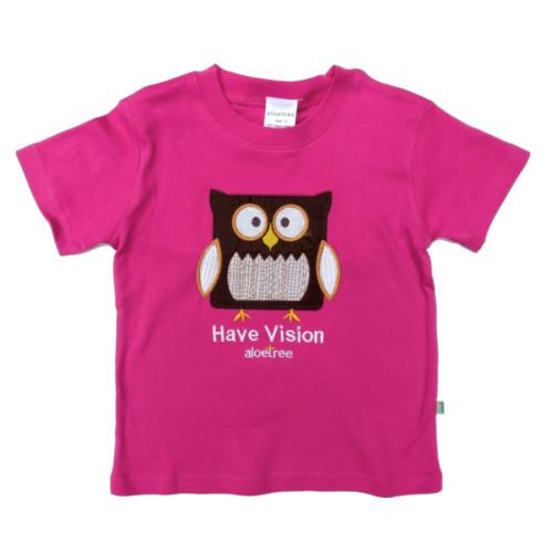 Owl Tee Fuchsia (app)