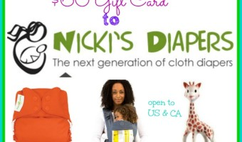 Nicki's Diapers $60 Gift Card Giveaway ends 7/24