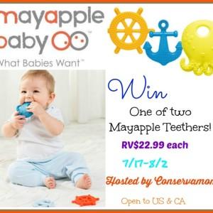 Mayapple Teething Toy Giveaway (2 Winners) ends 8/2