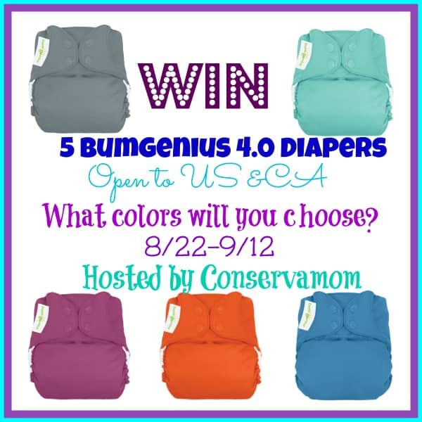 Win 5 BumGenius 4.0s in your choice of colours! #WinAllTheDiapers