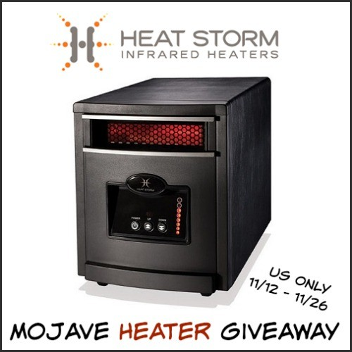 Conservamom Heat Storm Infrared Heater Giveaway Ends 11