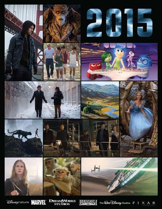 Disney's 2015 Movie Line up!