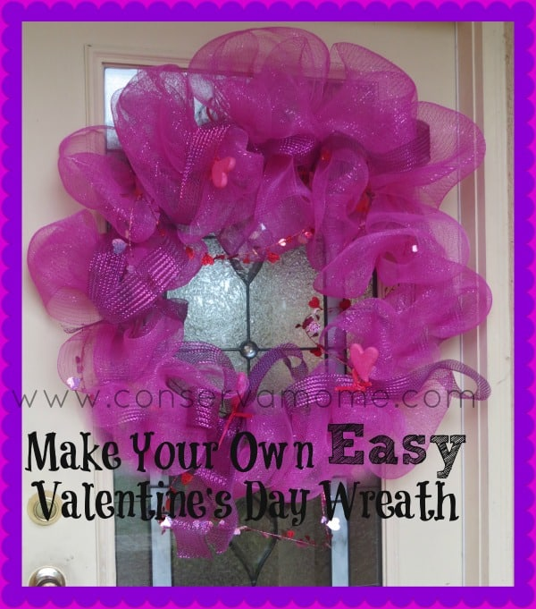 Make Your Own Easy Valentine's Day Wreath