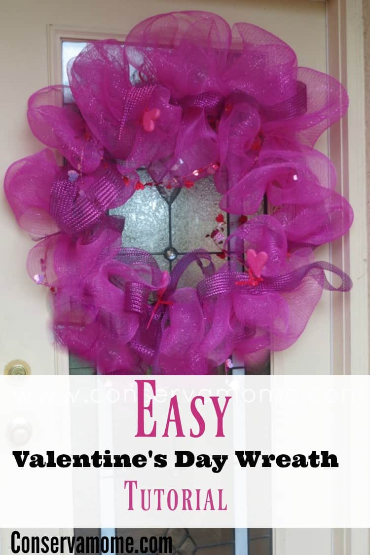 This fun and easy valentine's day wreath will be the perfect addition to any Valentine's day decor. Check out the easy instructions below!
