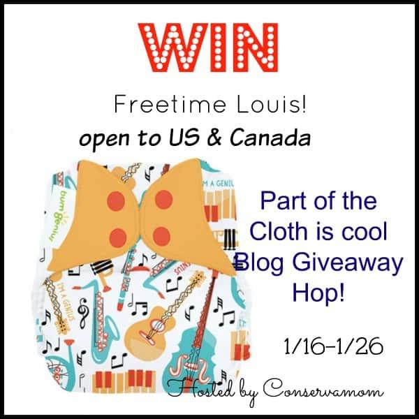 Louis Freetime Cloth Diaper Giveaway & Hop ends 1/26