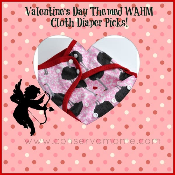 Valentine's Day Themed WAHM Cloth Diaper Picks!