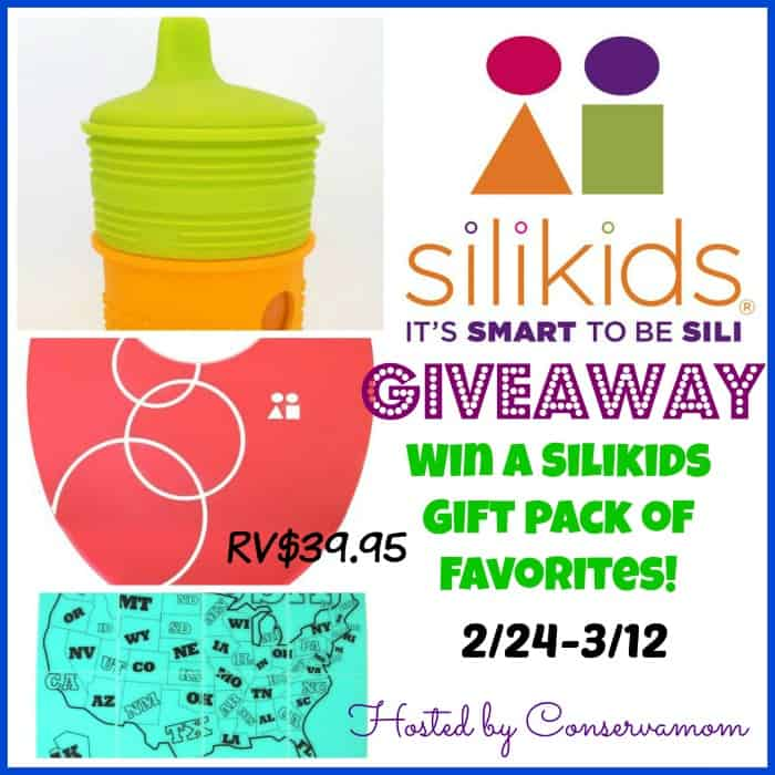 Silikids Gift Pack Giveaway ends 3/12