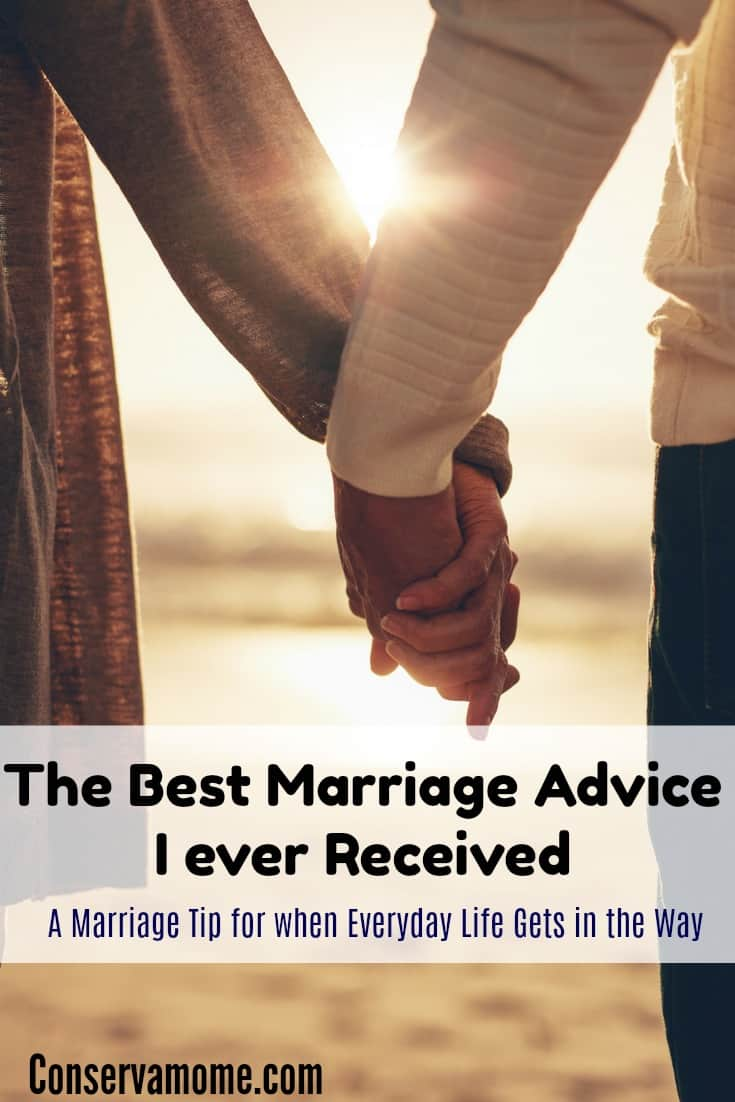 Marriage can be so hard. Especially when every day life gets in the way. Find out what the best marriage advice I ever received was.