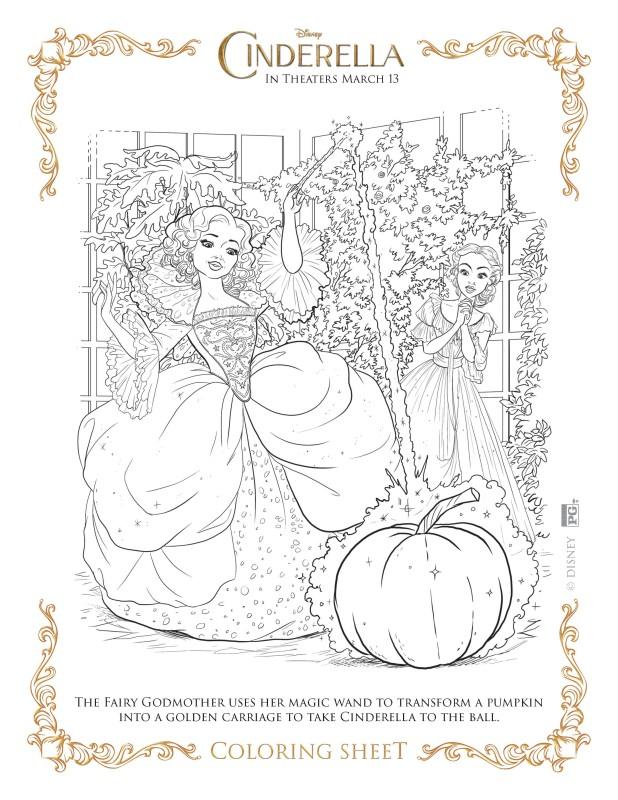 Disneys Cinderella Coloring Pages