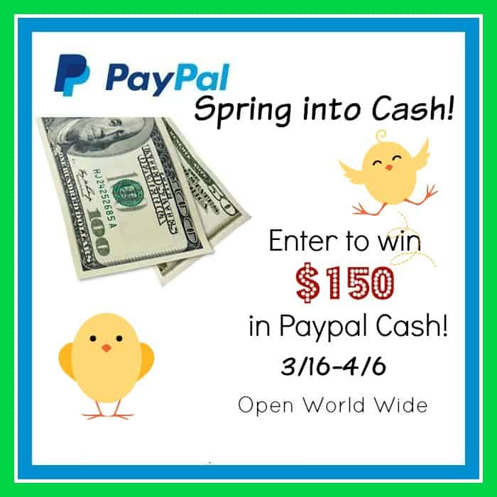 Spring Into Cash $150 Paypal Giveaway WW Ends 4/6