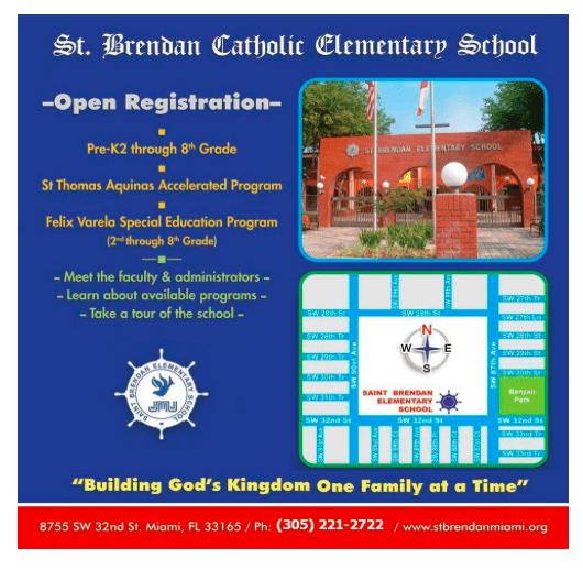 St.Brendan Catholic School Special Education Program Accepting Applications!