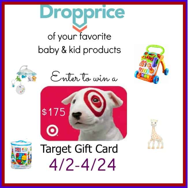 Drop the Price with Dropprice & Enter to win a $175 Target Gift card ends 4/24