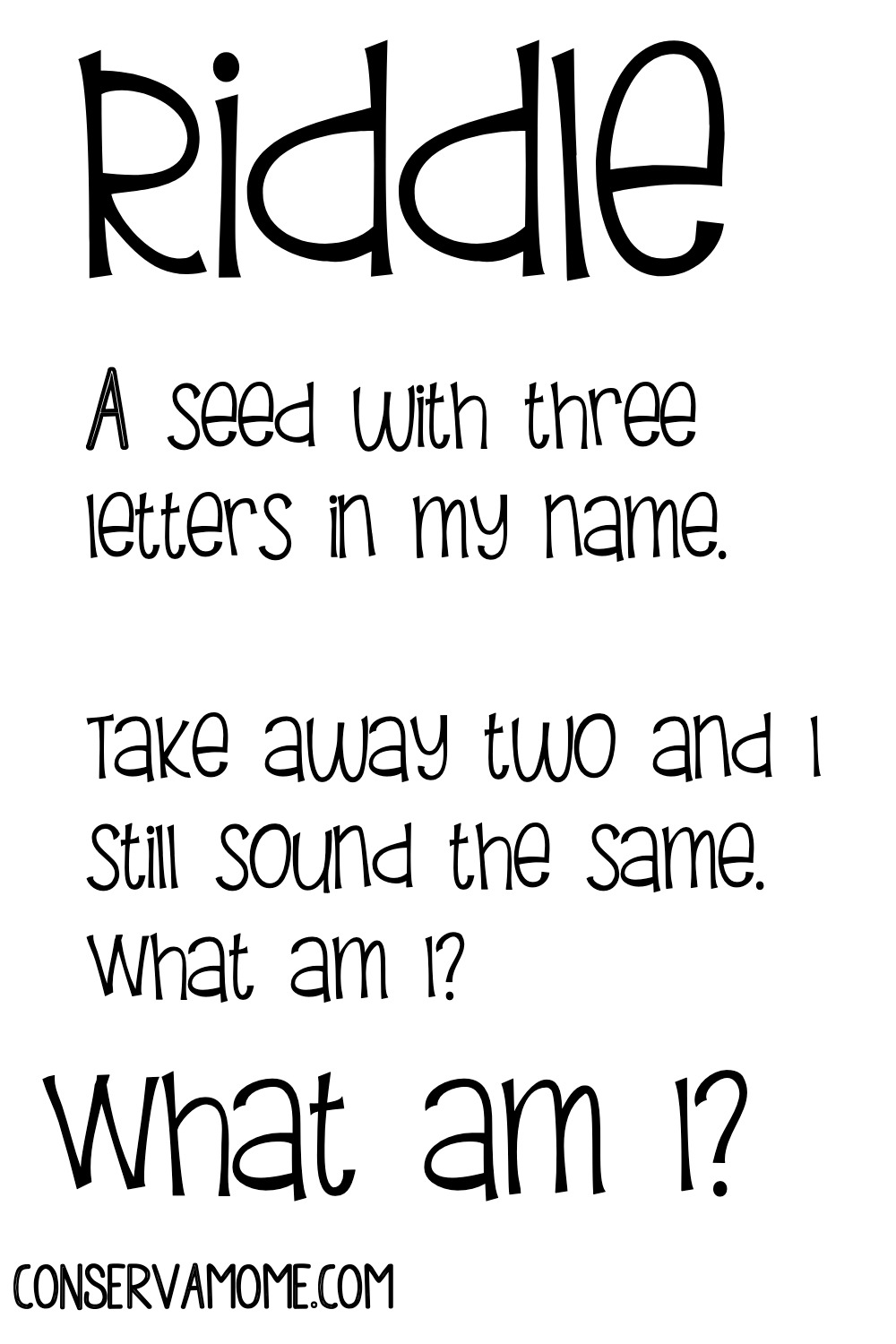 What I riddle
