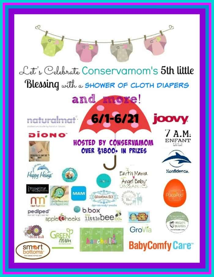 Shower of Cloth Diapers & More #Giveaway