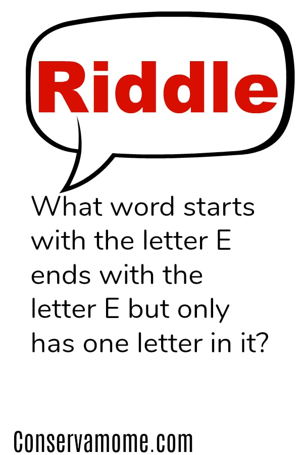 What word starts with the letter E ends with the letter E but only has one letter in it?