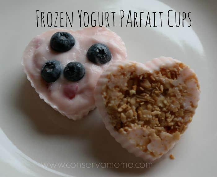 Frozen Yogurt Parfait Cups
