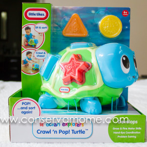 Little Tikes Lil' Ocean Explorers Crawl 'n Pop! Turtle Review & Giveaway ends 10/04