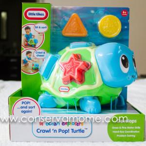 Little Tikes Lil' Ocean Explorers Crawl 'n Pop! Turtle Review & Giveaway ends 10/04