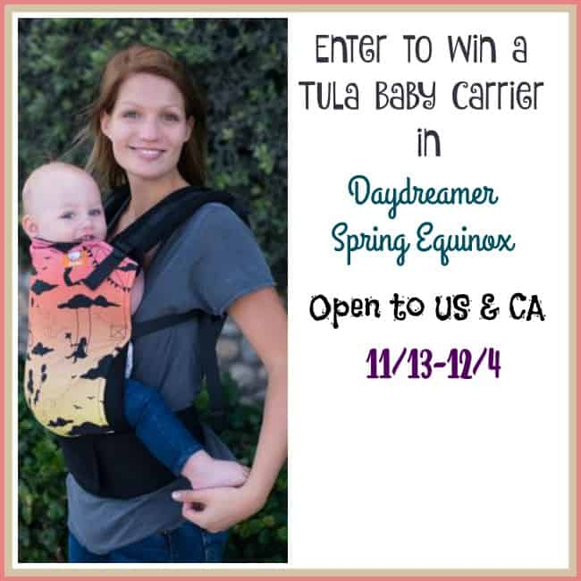 Enter to Win a TULA Baby Carrier in the Daydreamer Spring Equinox Print - Ends 12/4