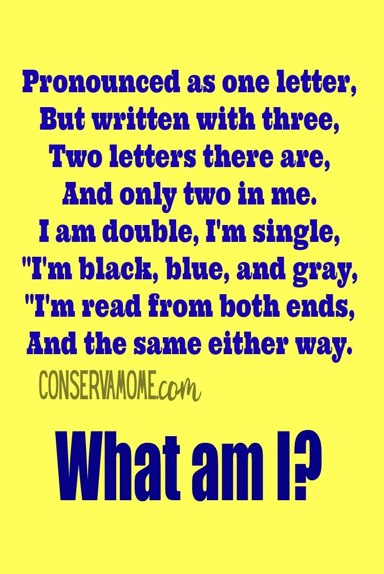 What AM I riddle