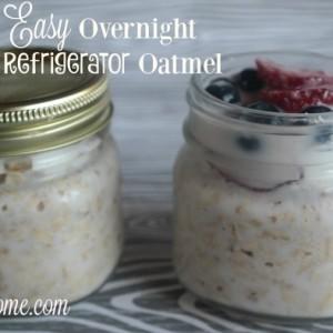 Easy Overnight Refrigerator Oatmeal
