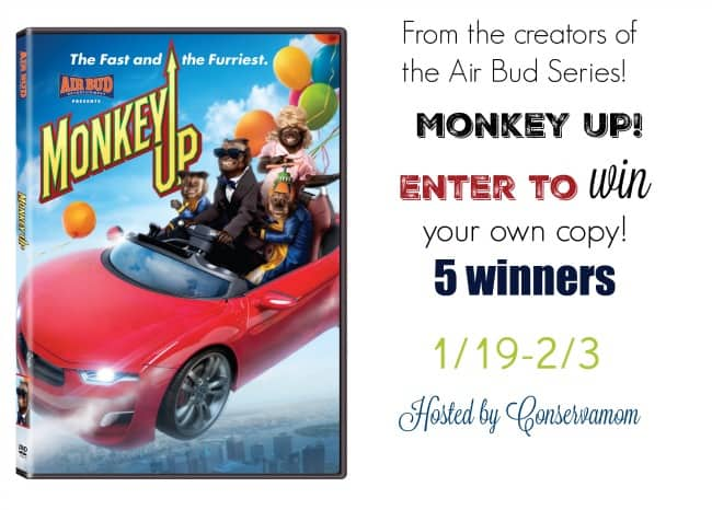 Monkey Up Movie Giveaway 5 Winners Ends 2 3 Conservamom