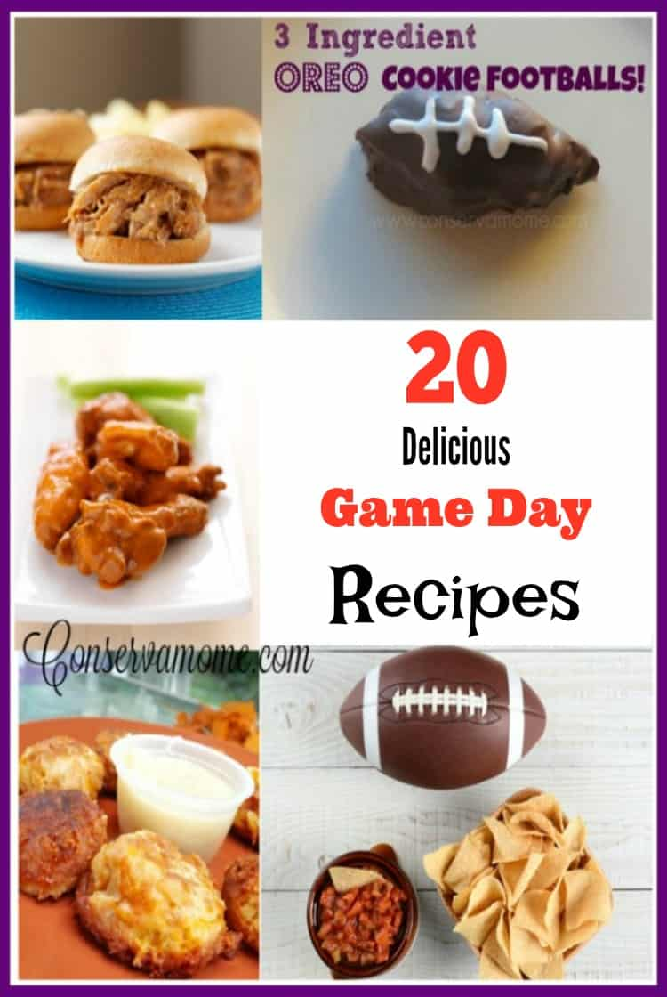 Looking for some easy and delicious Game day recipes? Look no further than this fun and delicious round up!