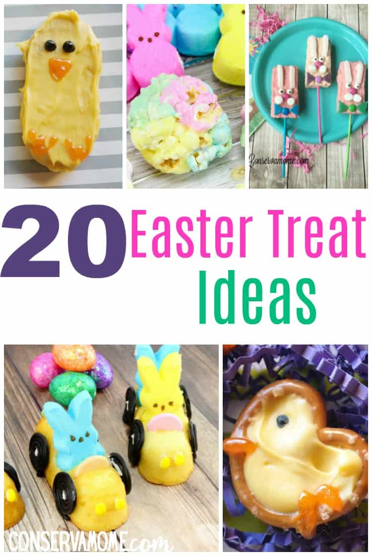 Here's a fun round up of 20 Fun Easter Treat ideas that will sweeten anyone's day! Perfect for a Spring party or Easter get together! This is a fun round up of creative Easter treat ideas!