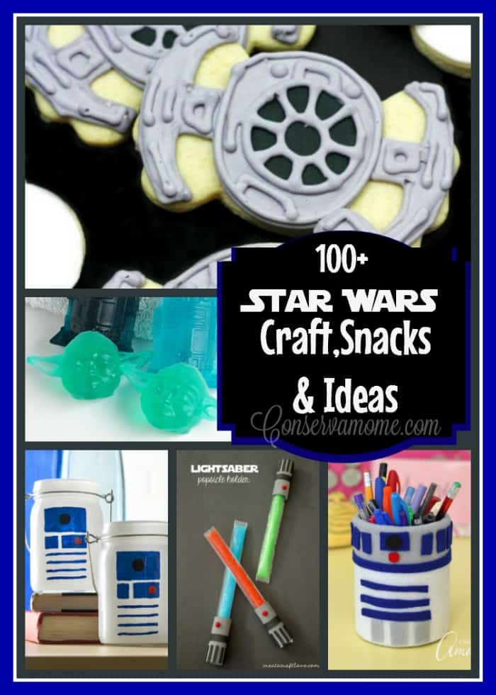 Here's a 100+ Star Wars Craft,Snacks & Ideas for kids, adults and Star Wars Fans! Perfect for a fun party, event or just because.