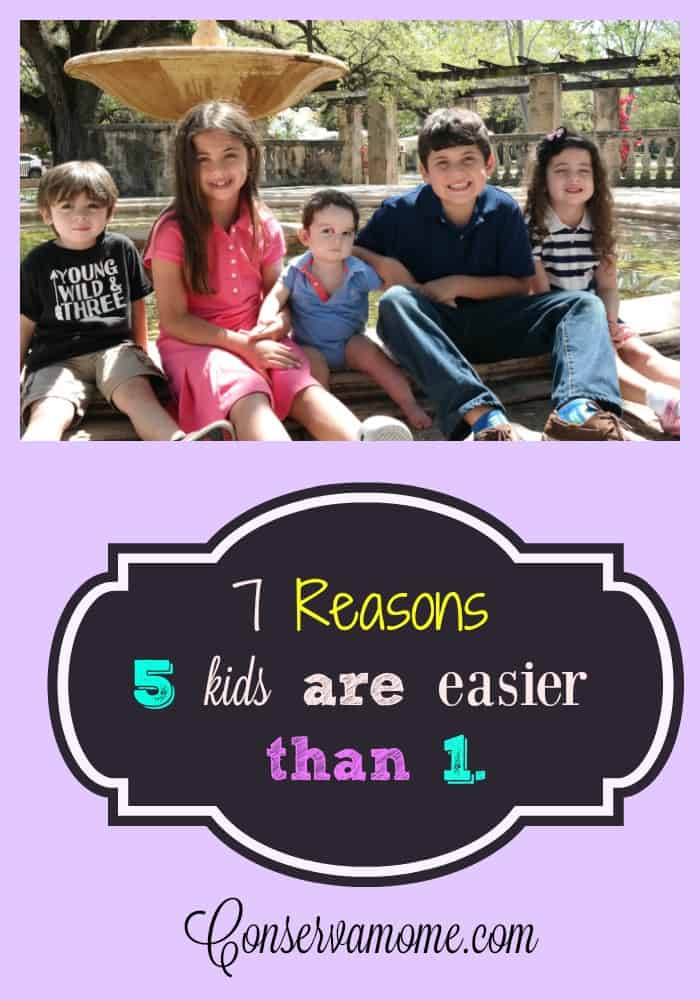 reasons 5 kids are easier
