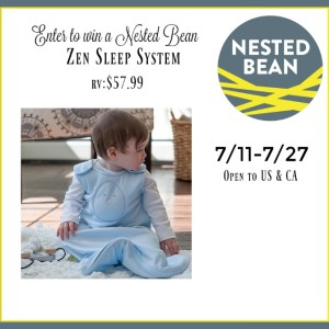 Nested Bean Zen Sleep System Giveaway ends 7/27