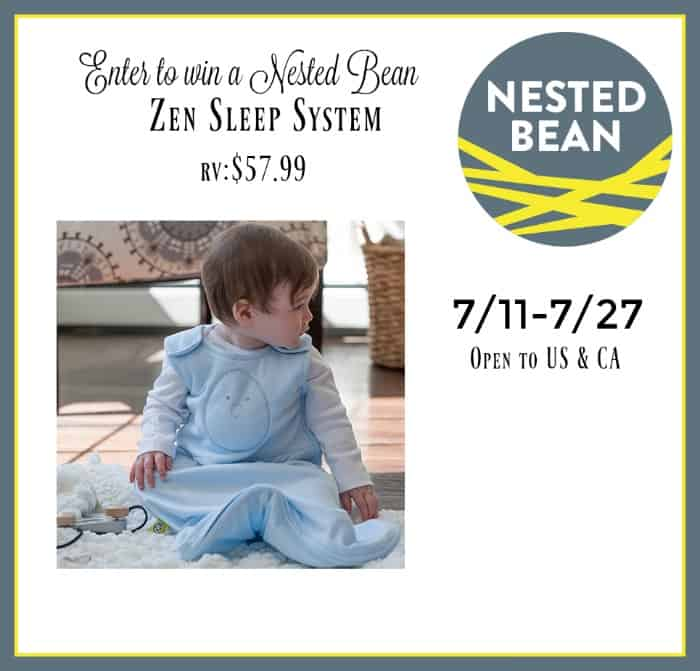 nested bean swaddle giveaway the inquisitive mom