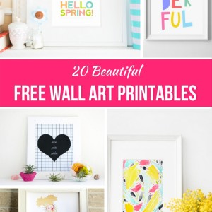 20 Beautiful Free Wall Art Printables