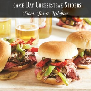 Game Day Cheese Steak Sliders From Terra's Kitchen